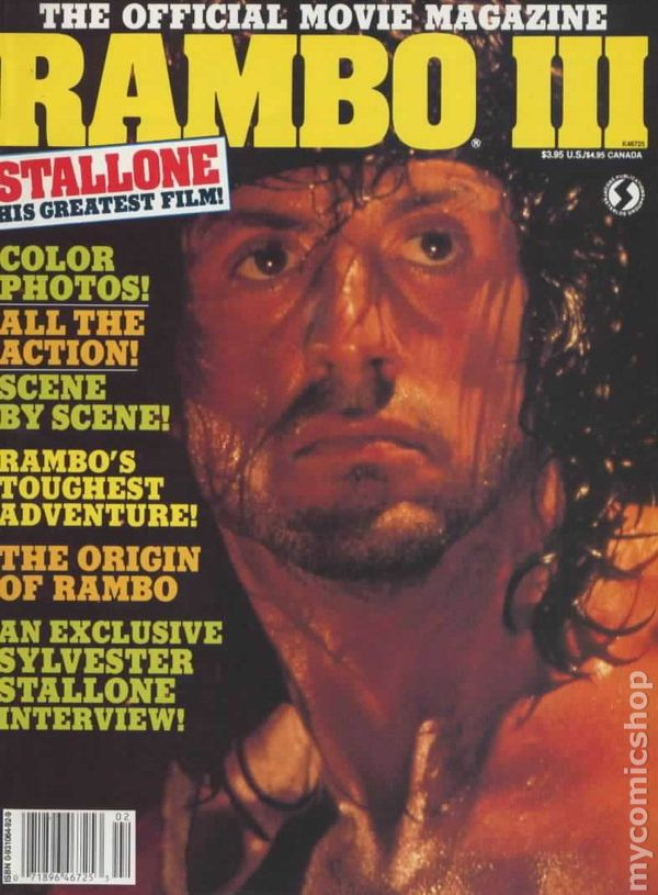 Rambo III Official Movie Magazine 1988 Comic Books