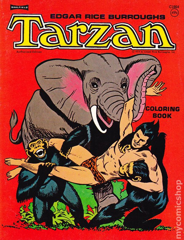 Tarzan Coloring Book Saalfield Comic Books