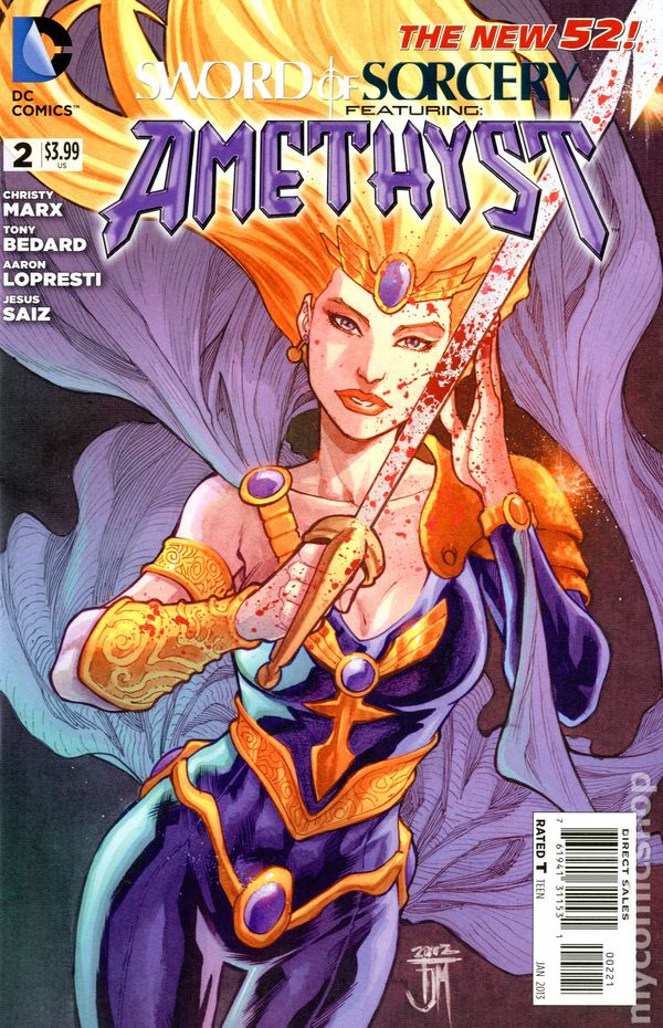 Sword Of Sorcery Featuring Amethyst 2012 Dc Comic Books