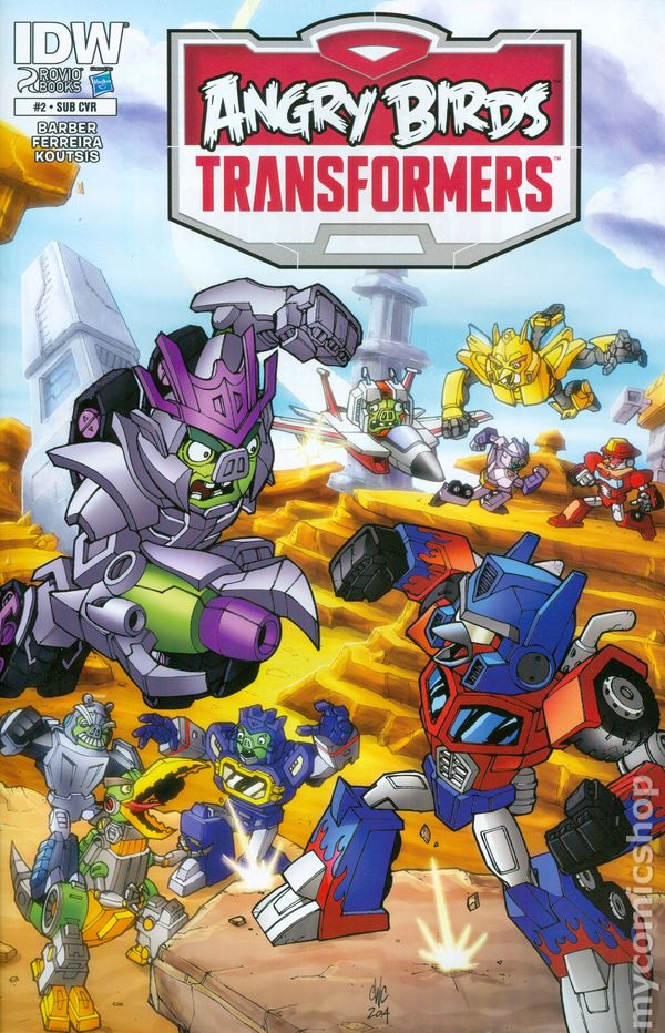 Angry Birds Transformers 2014 Idw Comic Books