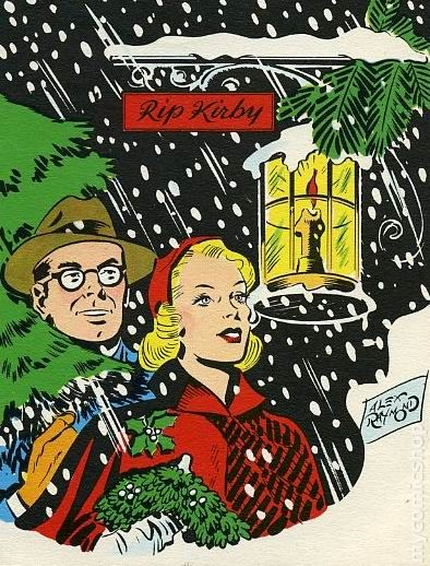 Rip Kirby Christmas Card 1951 Comic Books