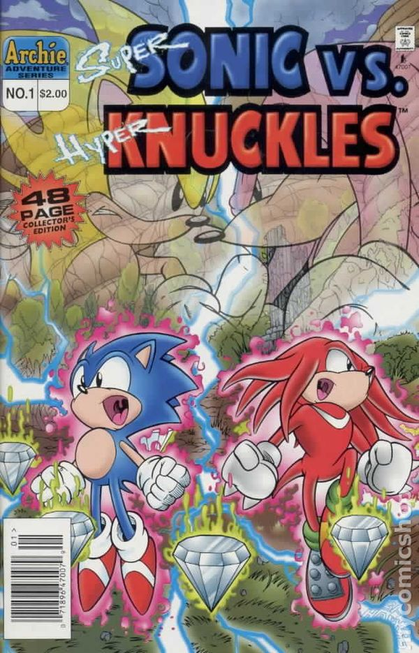 Super Sonic Vs Hyper Knuckles Special 1996 Comic Books