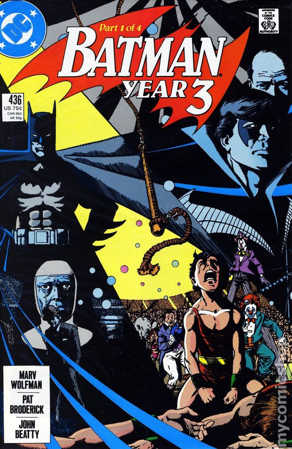 Comic Books In Batman Year 3