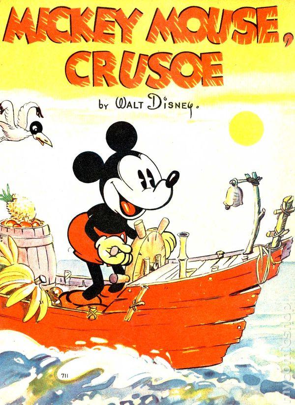 Mickey Mouse Crusoe 1936 Comic Books