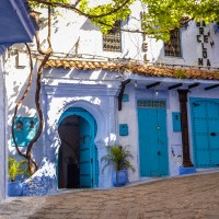 ccfc entrances & doors: the blue doors of chefchaouen