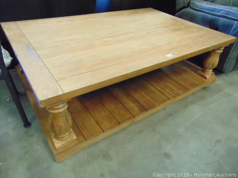 wood coffee table 40 x 60 x 18