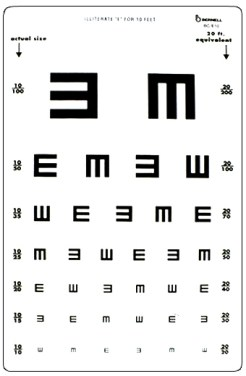 Image result for vision test tumbling e wikipedia