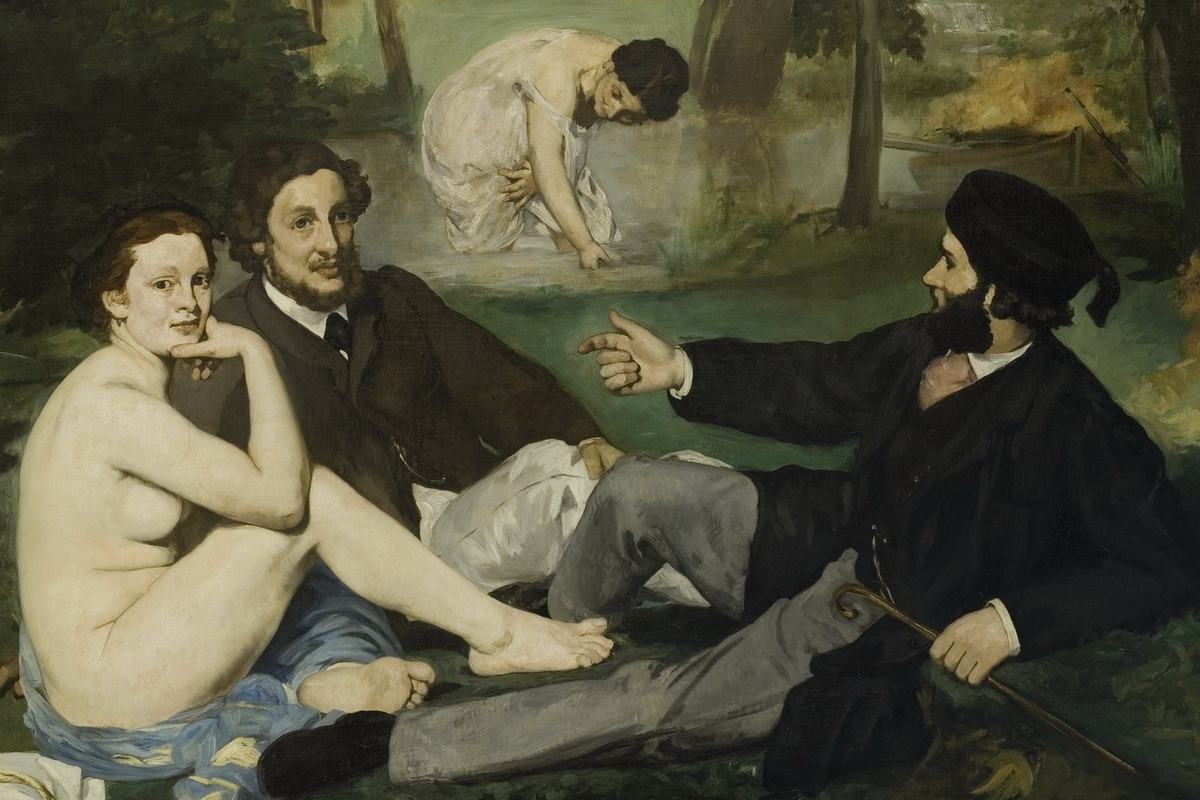sur l herbe by edouard manet
