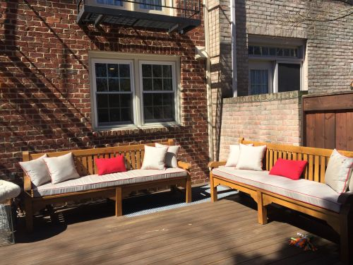 patio bench cushions in georgetown