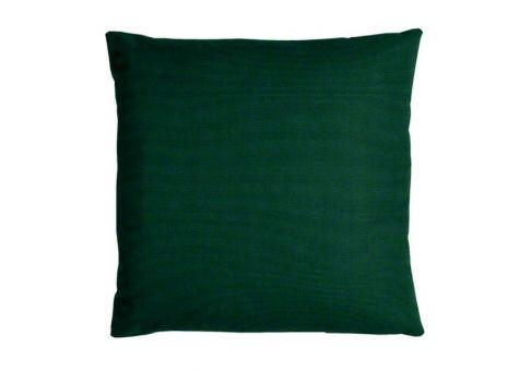 sunbrella canvas forest green pillow