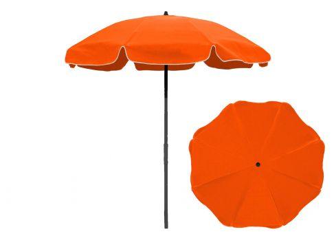 7 5 ft orange aluminum patio umbrella with fiberglass ribs