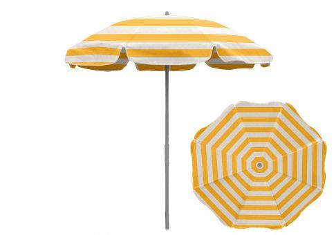7 5 patio umbrella with aluminum center pole yellow white stripe