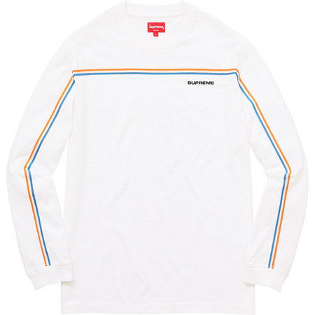 Full Stripe L/S Tee (White)