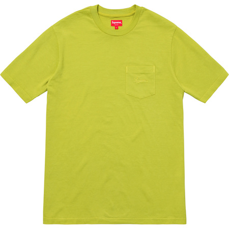 Overdyed Pocket Tee (Acid Green)