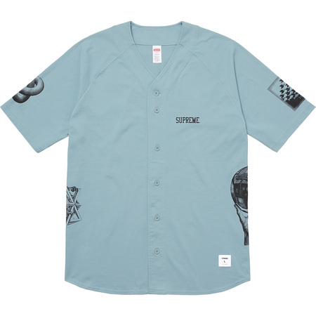 M.C. Escher Cotton Baseball Jersey (Dusty Slate)