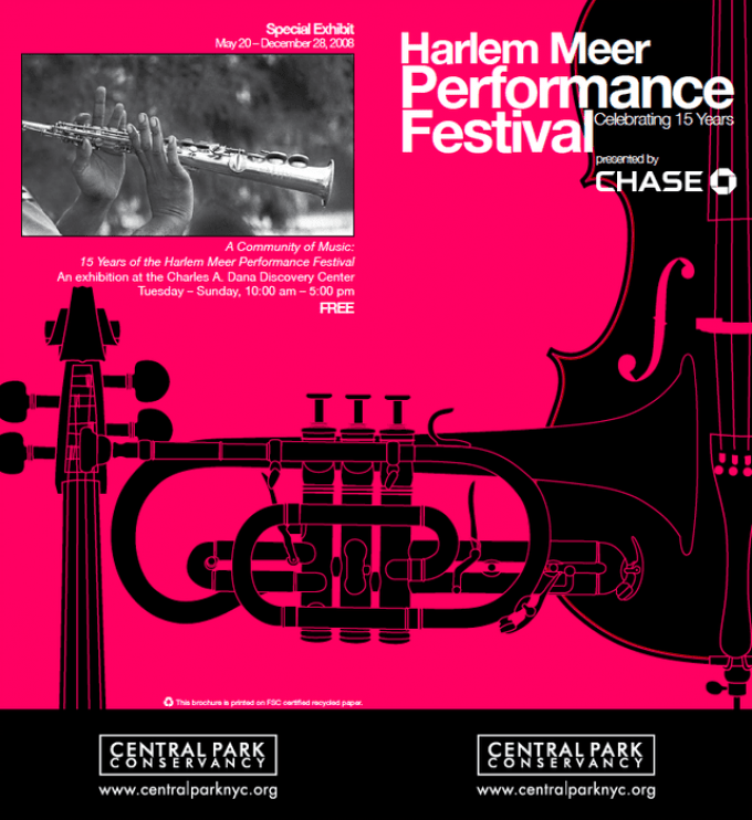 The poster for this year's Festival, in hot pink and black.