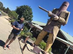 Ned Kelly Statue with Dave