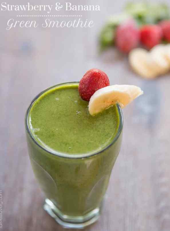 Strawberry & Banana Green Smoothie