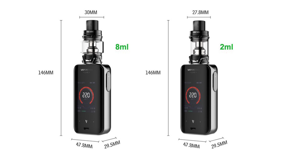 Kit TC Touch Screen Vaporesso Luxe 220W com SKRR