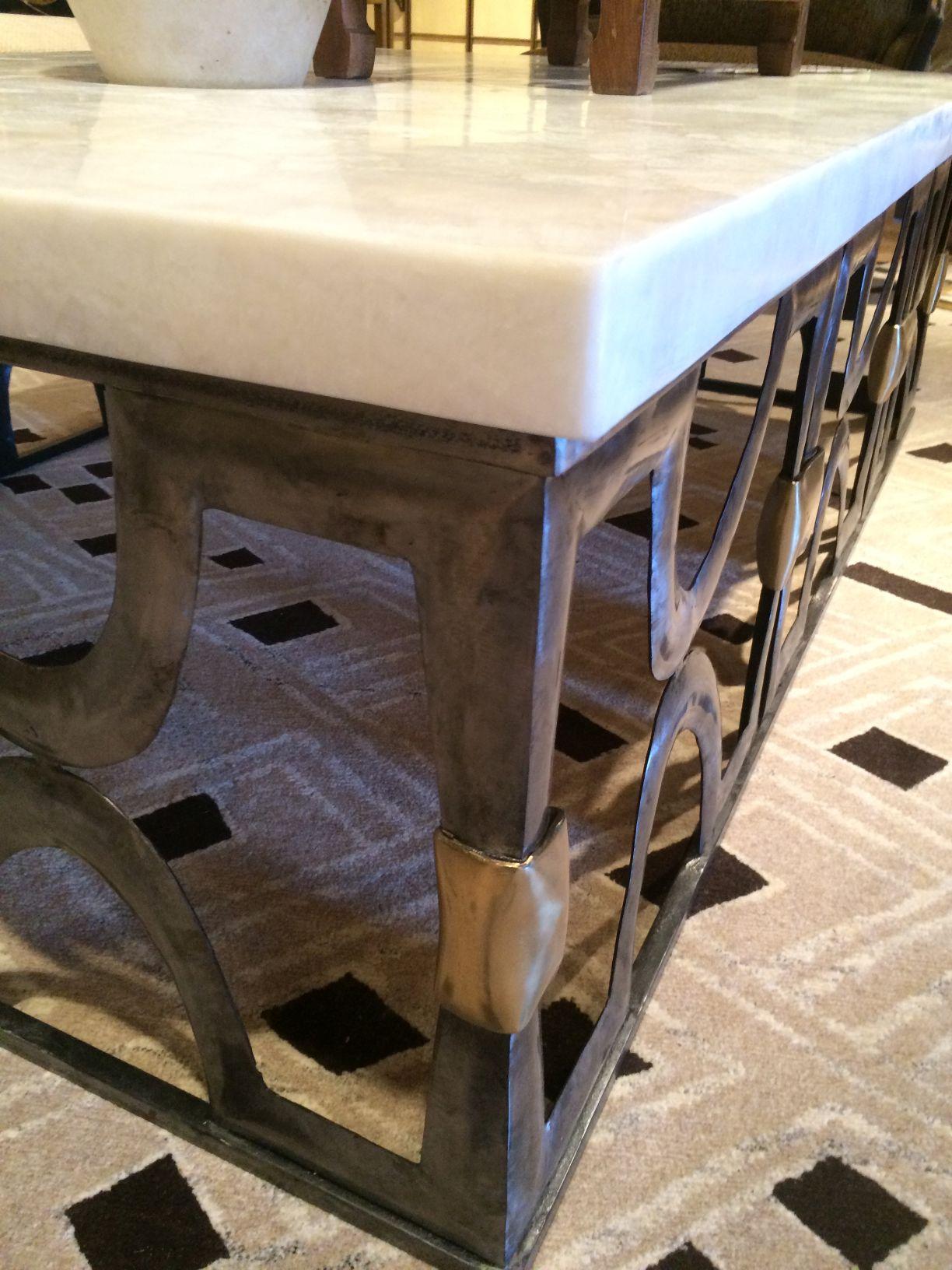 white onyx stone top coffee table