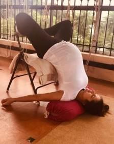 Prenatal Yoga Stretching Exercise