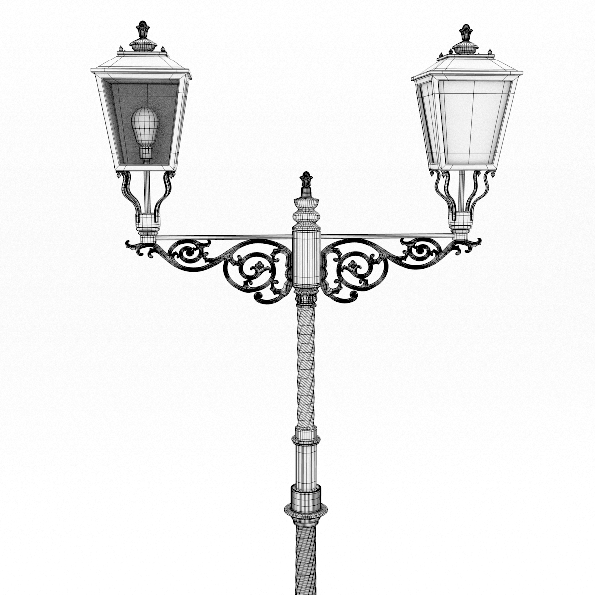 Cast Iron Street Lamp 3d Model