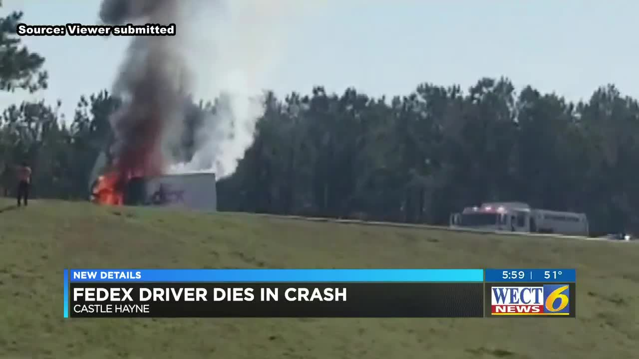 fedex truck driver killed in fiery accident