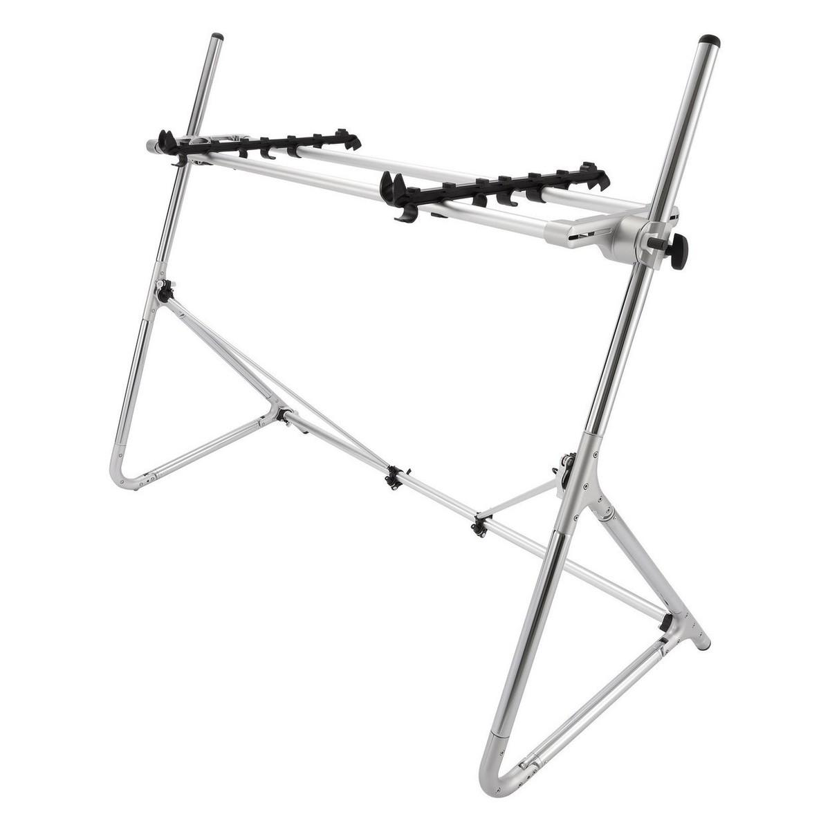 Sequenz Standard Double Tier Medium Keyboard Stand Silver