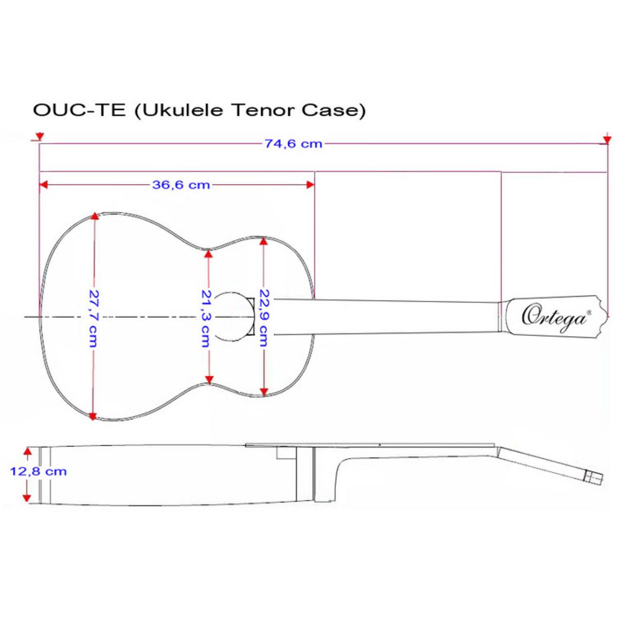Ortega Ouc Te Professional Ukulele Case Tenor Size At