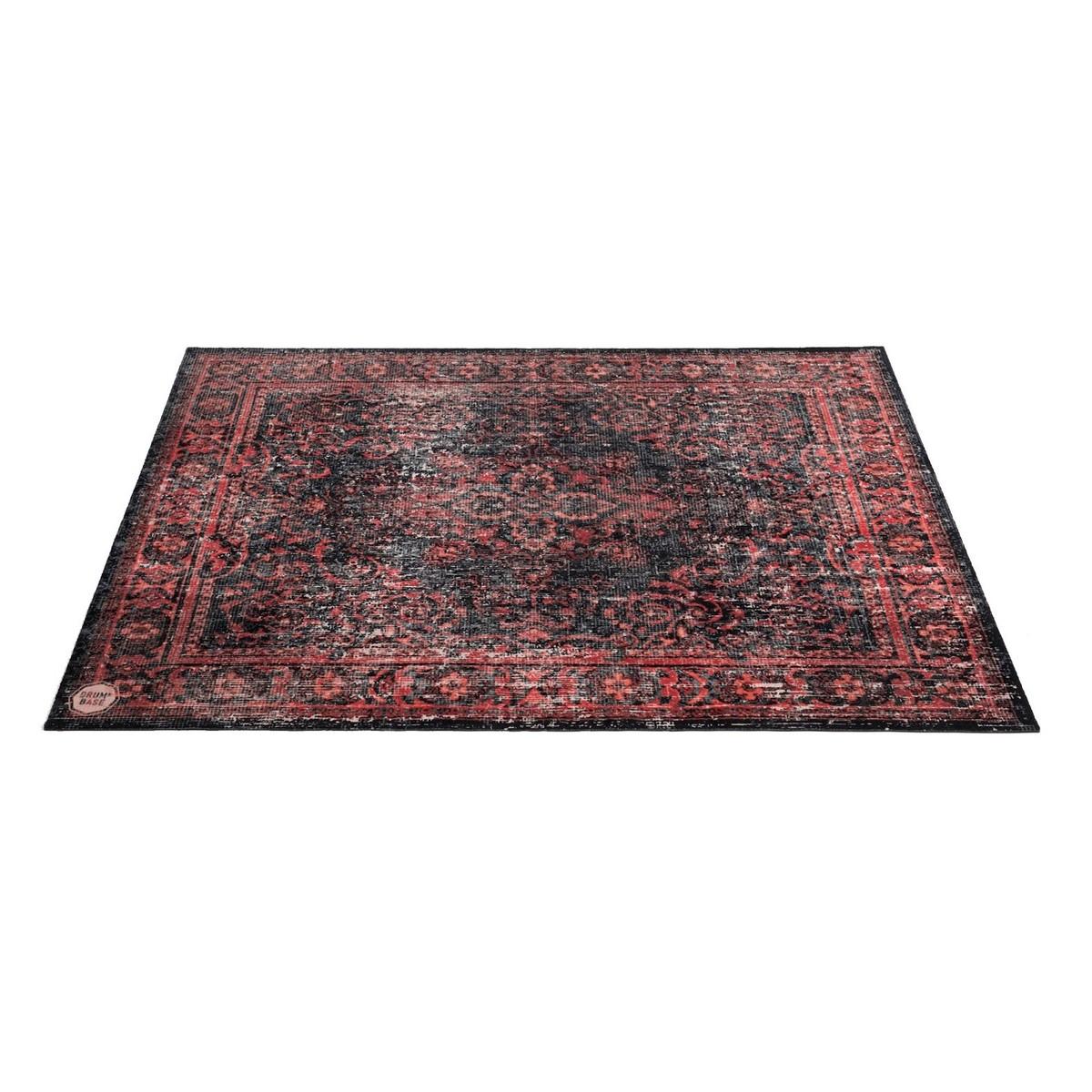 drum n base vintage persian stage rug red and black