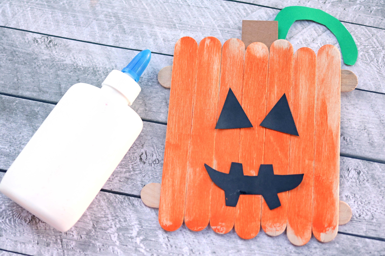 Halloween Jack O Lantern Popsicle Stick Craft For Kids
