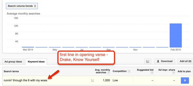 lyric search by line