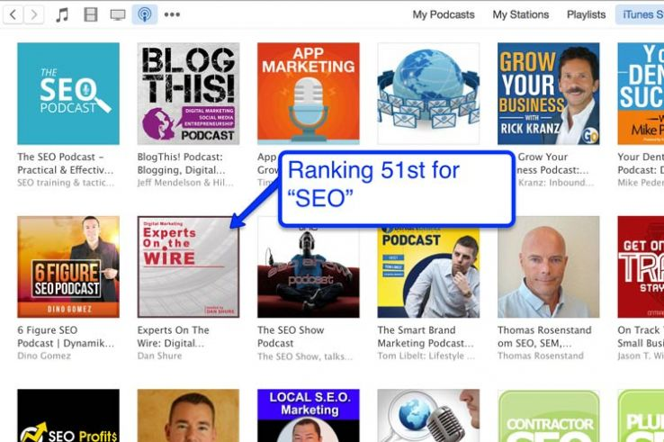 """iTunes results for """"seo."""""""
