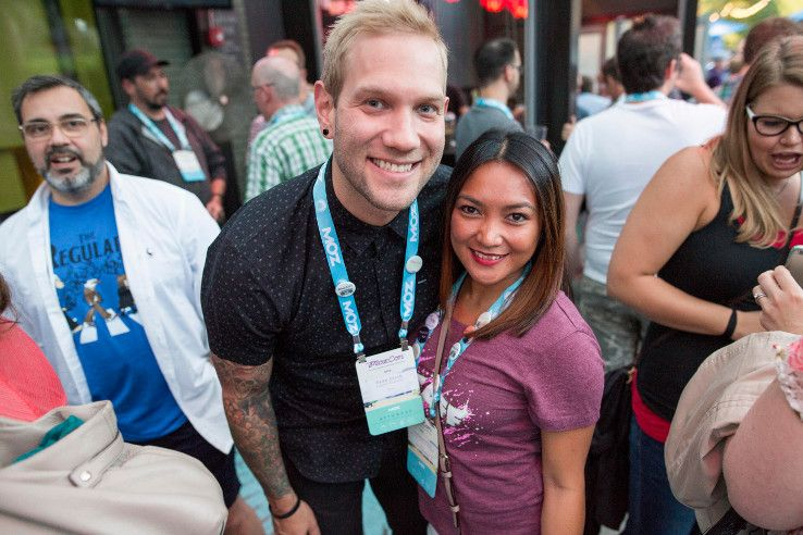 Ryan and Char at MozCon Bash 2015
