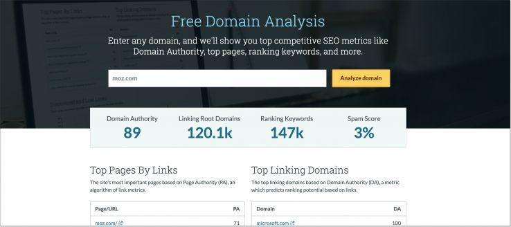New Domain Analysis tool
