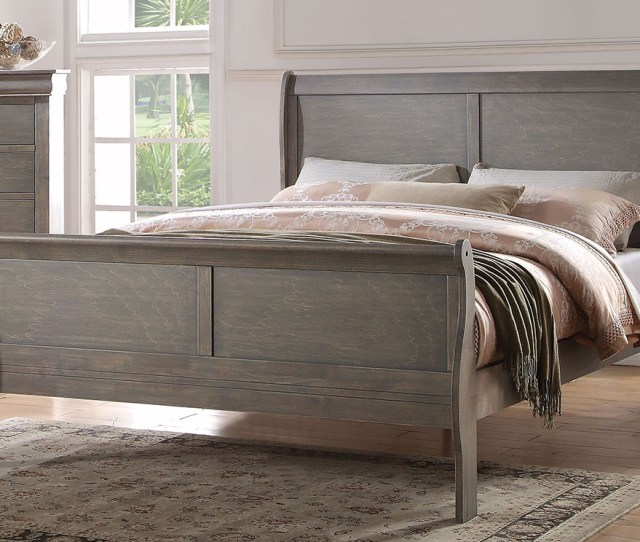 Affordable Furniture Carpet Chicago Il Louis Philippe Antique Gray Queen Bed