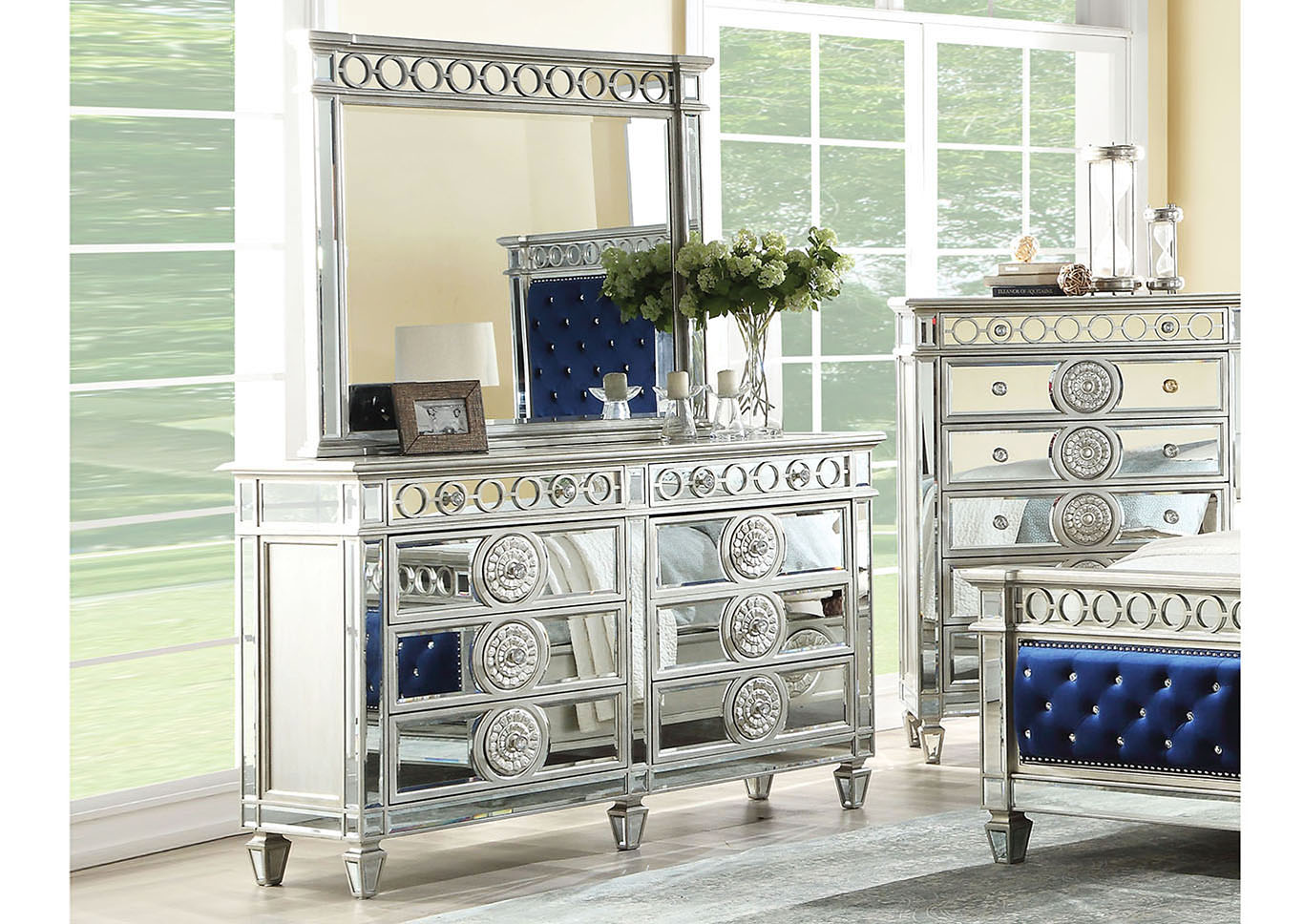 Mattress World Ii Inc Varian Mirrored Dresser