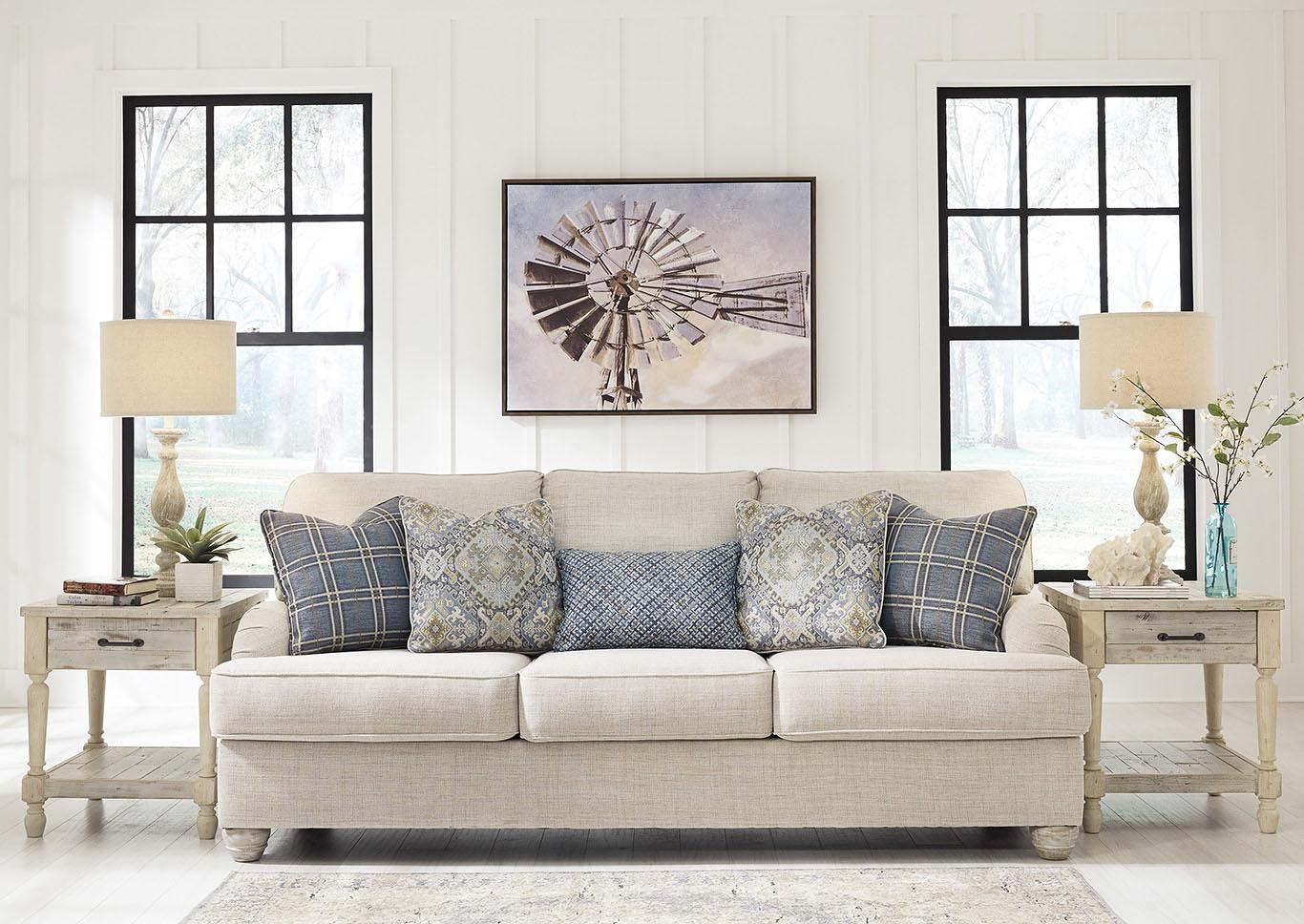 traemore linen sofa signature design by ashley