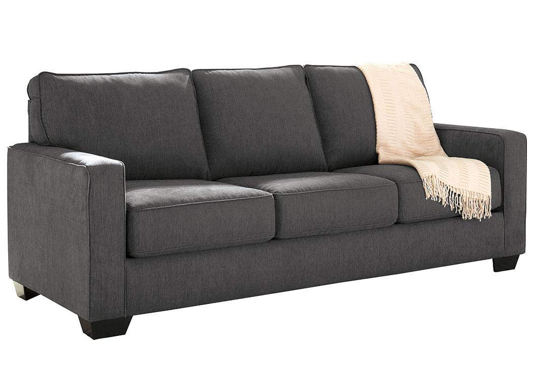 Ivan Smith Zeb Charcoal Queen Sofa Sleeper