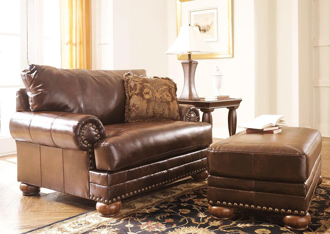 Rossie Furniture Hammond La Durablend Antique Chair And A Half