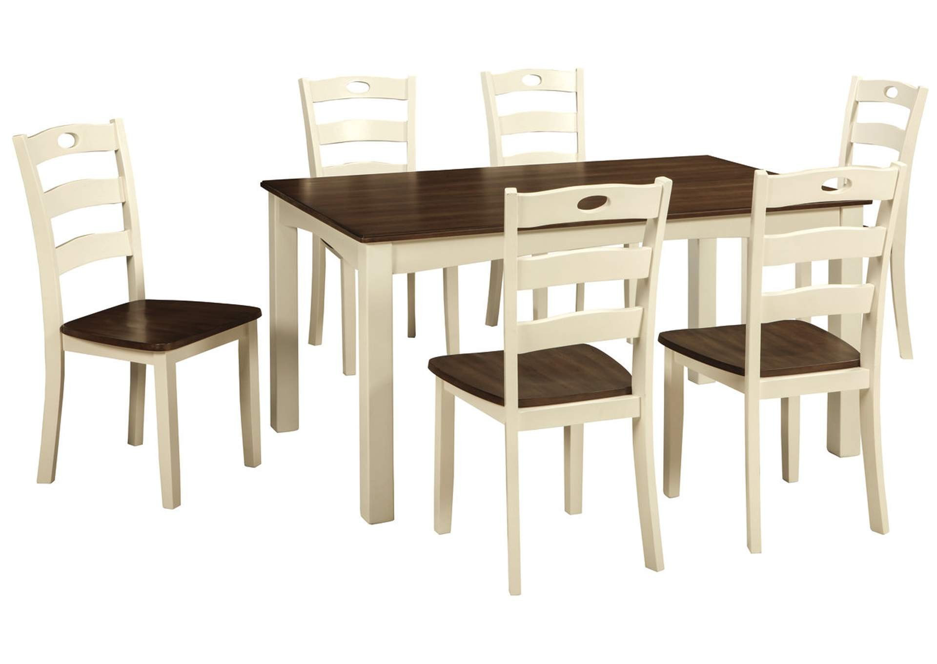 Compass Furniture Woodanville WhiteBrown Dining Room