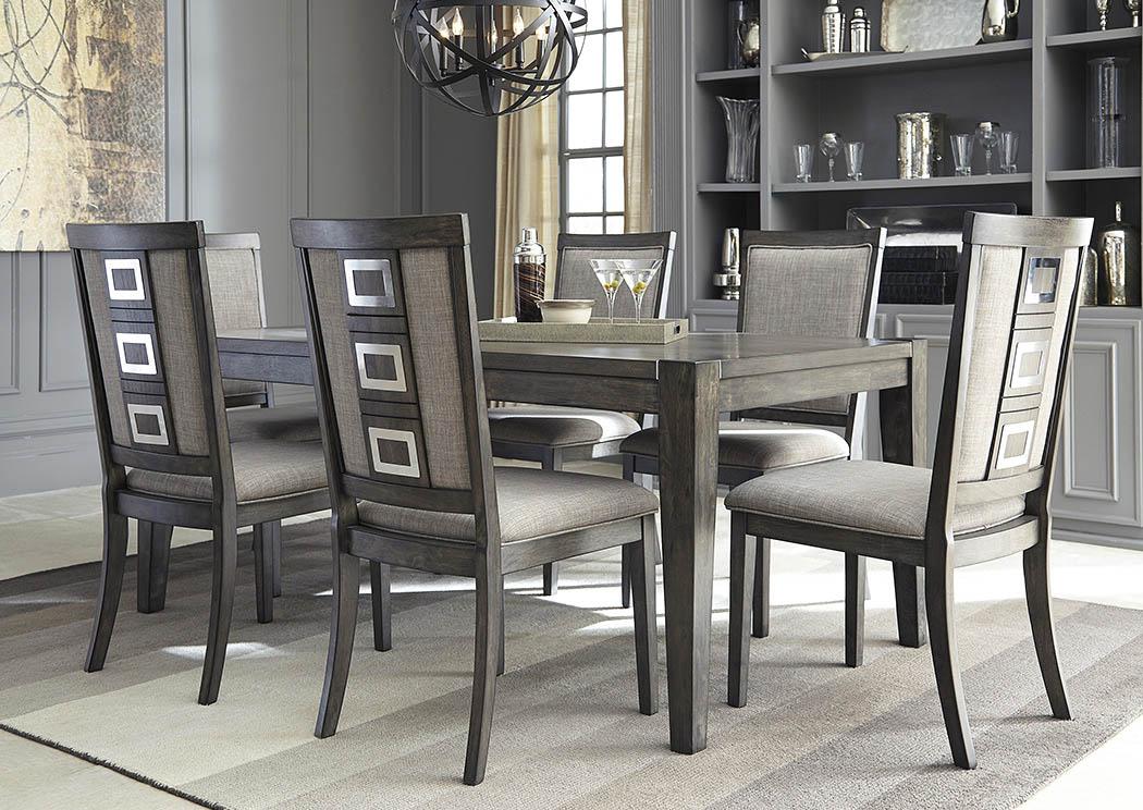 American Furniture Galleries Chadoni Gray Rectangular