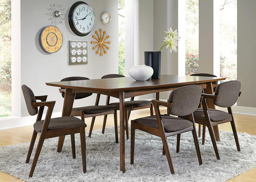 Gorees Furniture Opelika AL Walnut Dining Table W6 Chairs