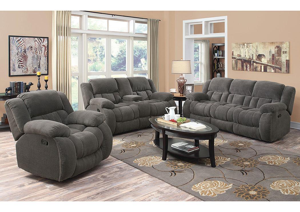 Gorees Furniture Opelika AL Gray Reclining Sofa And