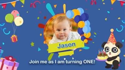 2nd birthday invitation video online