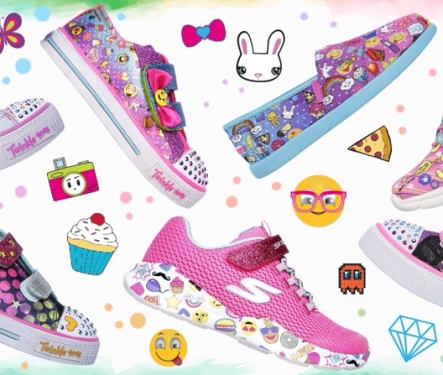 Find The Cutest Kids Shoes With Emoji Prints On Skechers Com