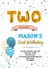 10 890 2nd birthday invitation