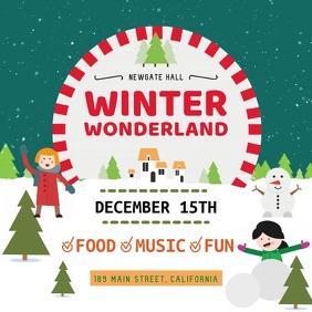 winter wonderland customizable design