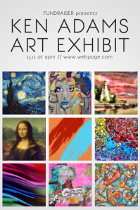 870 art exhibition poster template