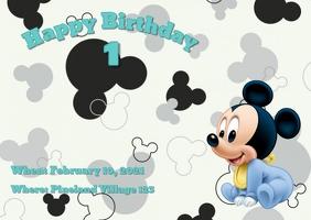 11 020 mickey mouse birthday invite